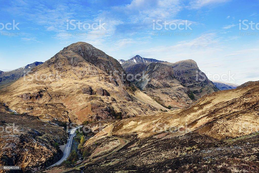 Three Sisters of Glencoe, Scotland stock photo