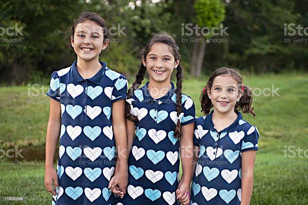 three sisters royalty-free stock photo