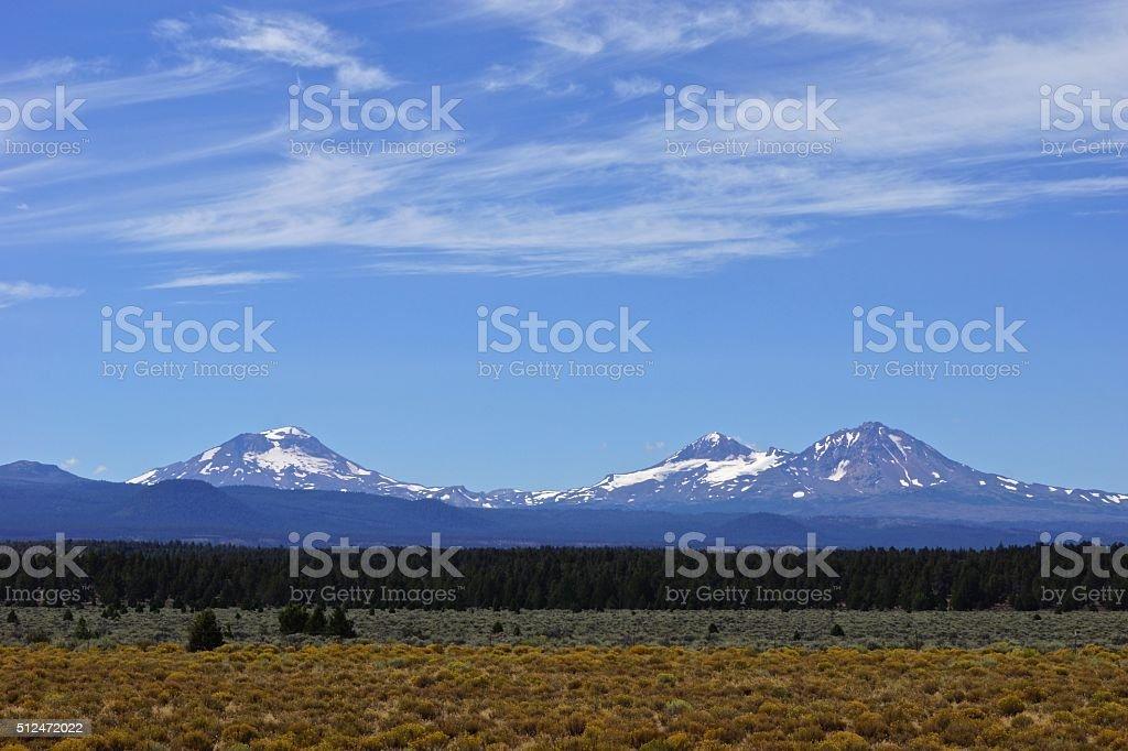 Three Sisters Range stock photo
