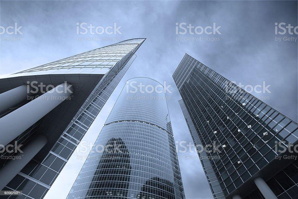 Three skyscrapers royalty-free stock photo