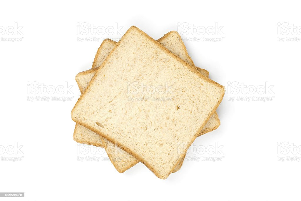 Three Sliced Bread royalty-free stock photo