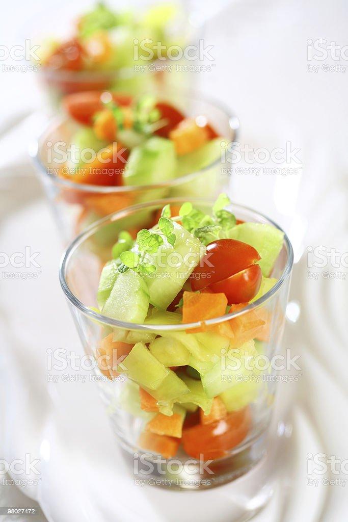 Three small salads royalty-free stock photo