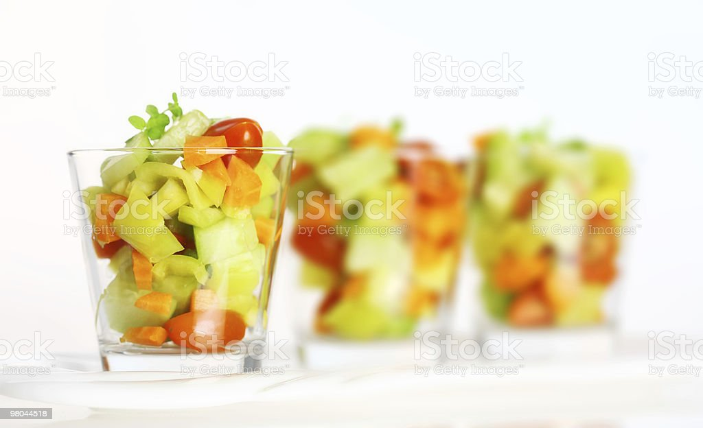Three small salads royalty-free stock photo