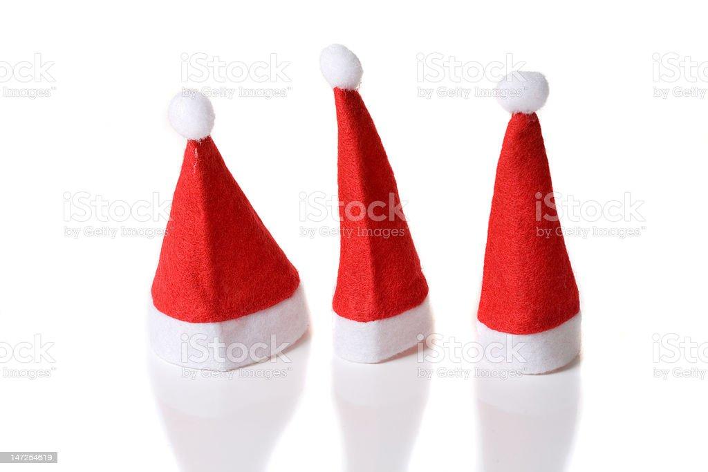Drei kleine santa-Mützen – Foto