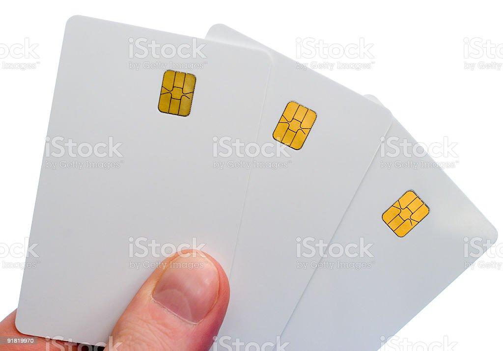 three smartcards royalty-free stock photo