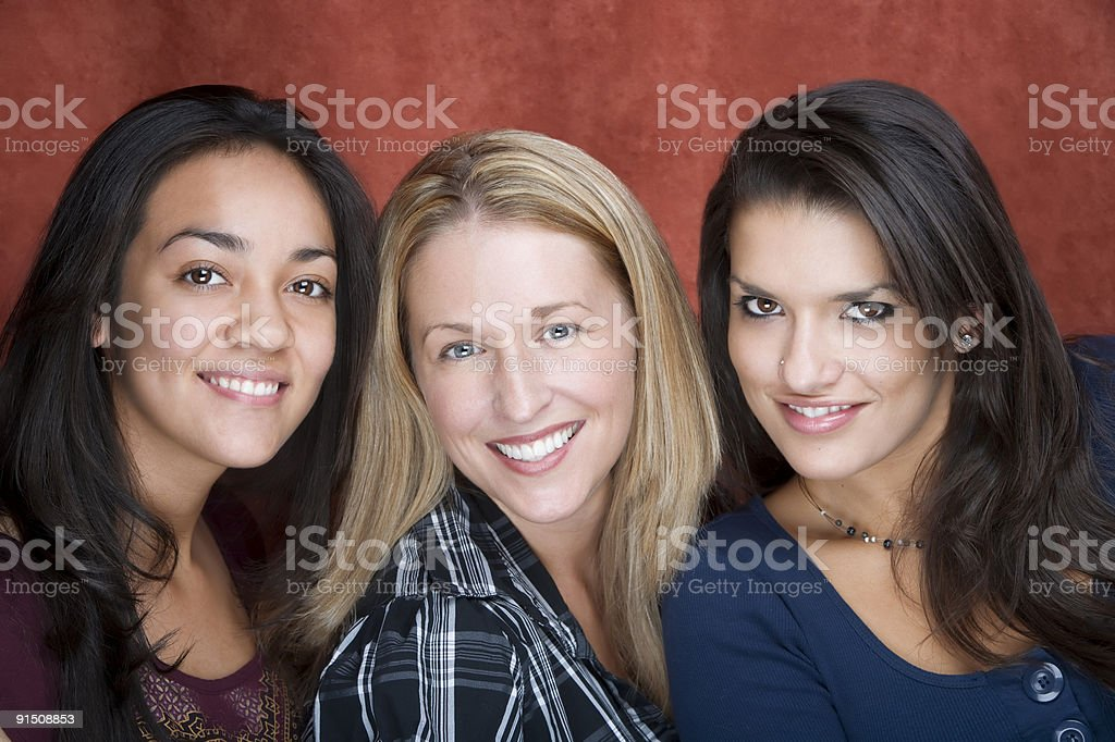Three Smiling Women royalty-free stock photo