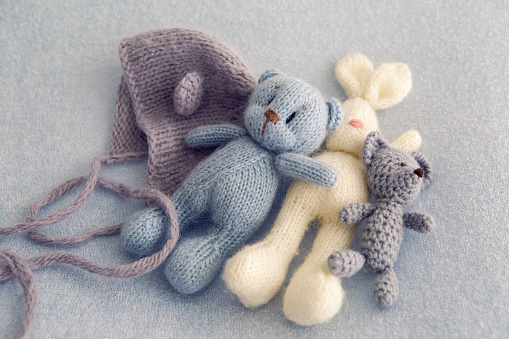 Three soft toy bears