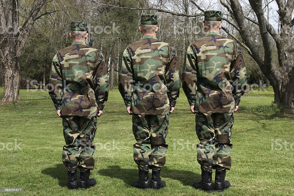Three Soldiers royalty-free stock photo