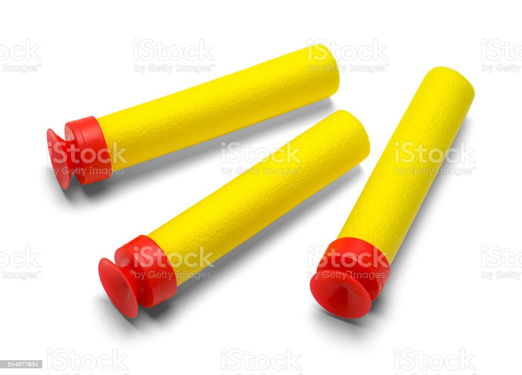 Three Sponge Darts stock photo