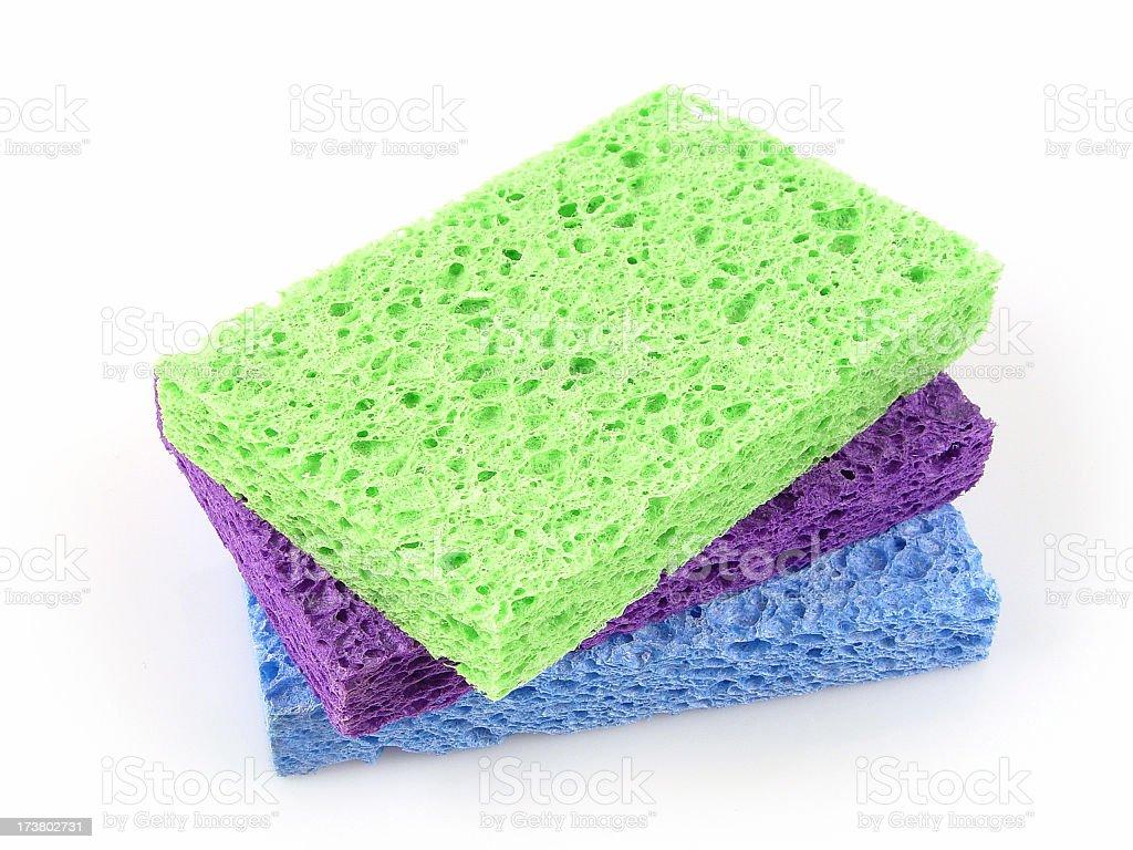 Three sponges royalty-free stock photo