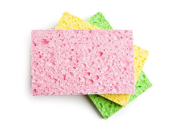 three sponges - spons stockfoto's en -beelden