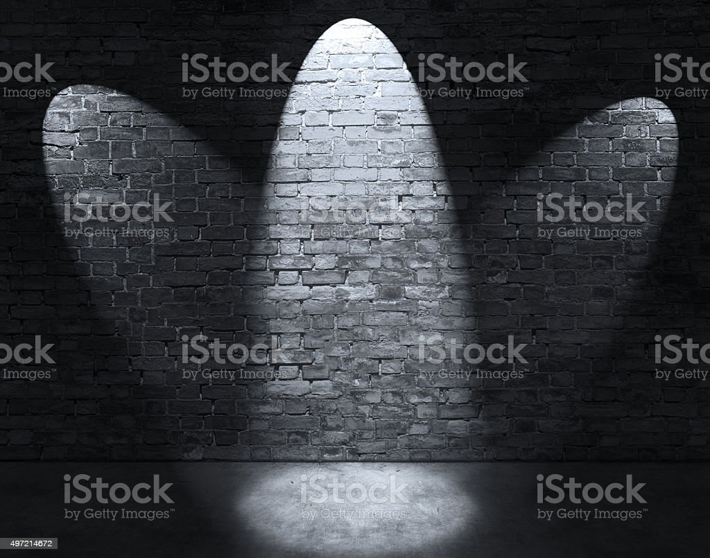 Three spot lights stock photo
