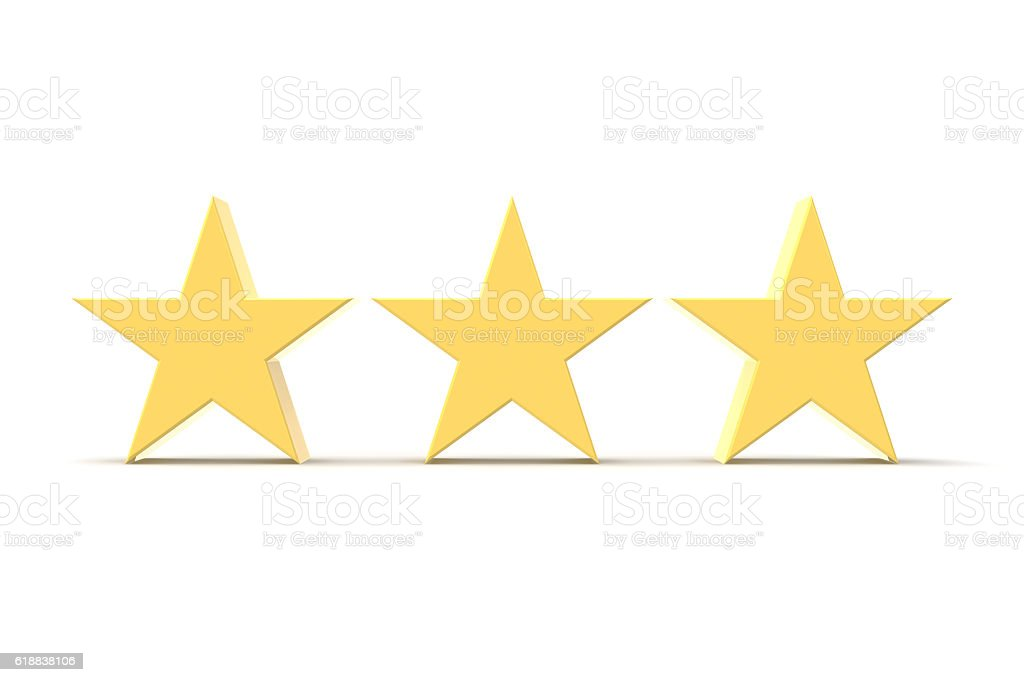 Three Stars Gold Stock Photo More Pictures Of Award Istock