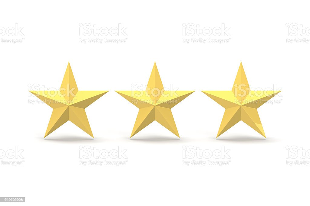 Three Stars, Gold stock photo