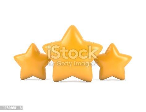 istock Three stars 1175668113