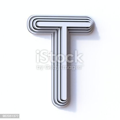 583978622 istock photo Three steps font letter T 3D 952051372