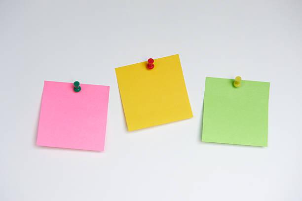 Three Sticky Notes stock photo