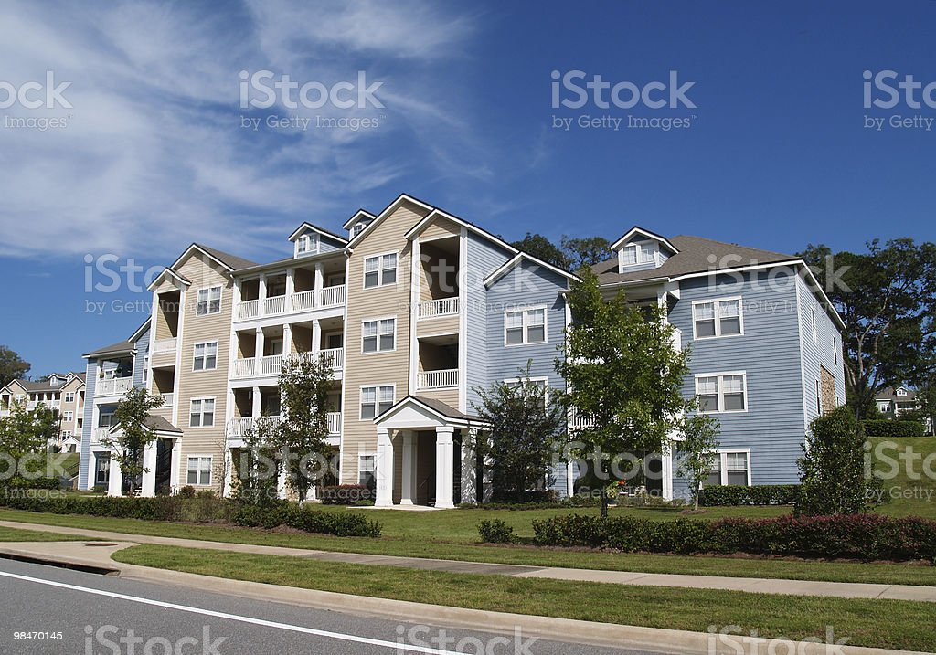 Three Story Condos, Apartments or Townhomes royalty-free stock photo
