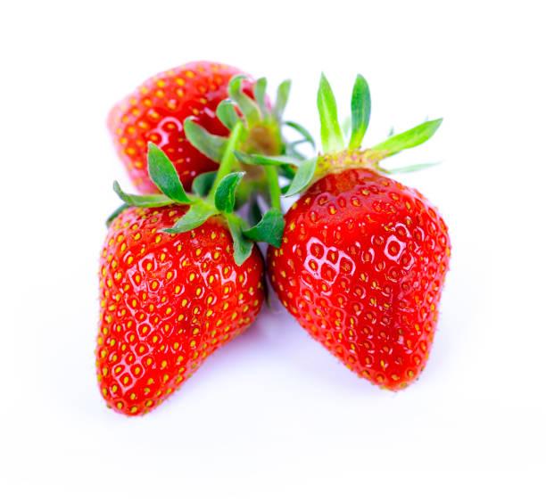 drei Erdbeeren – Foto