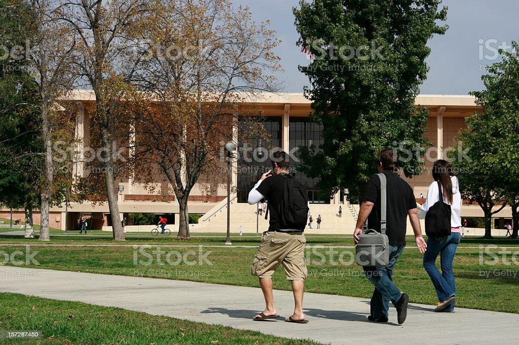 Three Students royalty-free stock photo