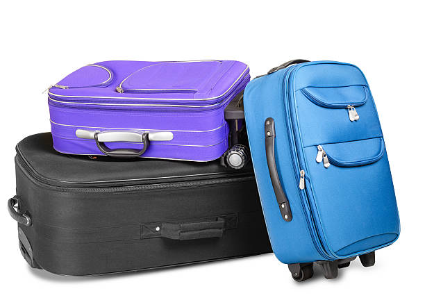 Three Suitcases stock photo
