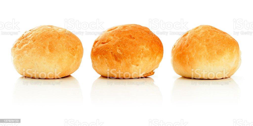 Three sweet buns royalty-free stock photo