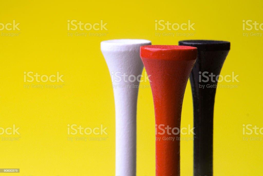 Three Tees royalty-free stock photo