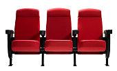 Three Theater Seats, Isolated