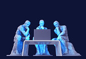 istock Three Thinkers Sitting In Front Of A Computer Screen 1271759928