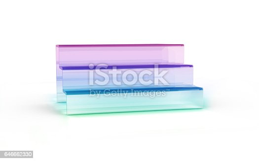 istock three tier with color glass of display stand 646662330