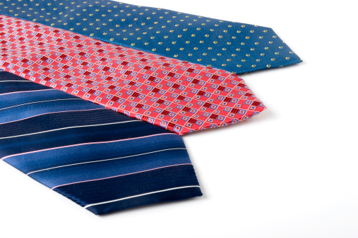 Three ties for all occasions isolated on white background.Please see some similar pictures: