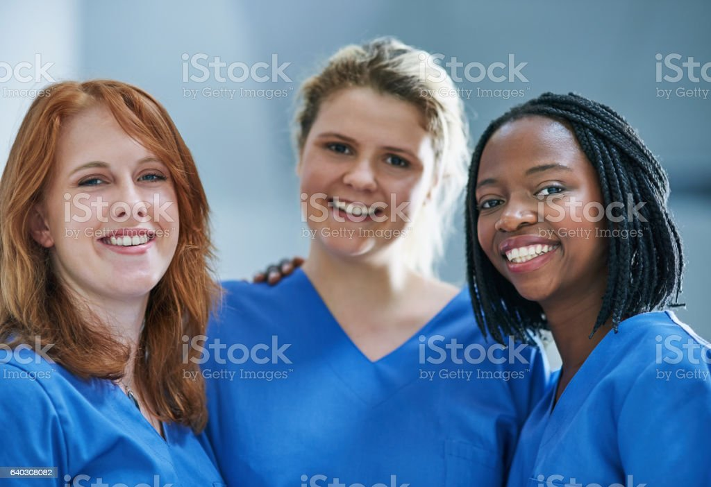 Three times the surgical skill stock photo