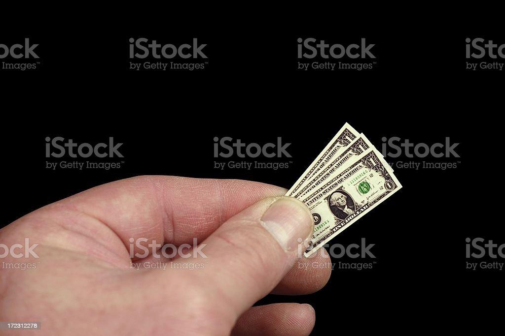 Three Tiny Dollars stock photo