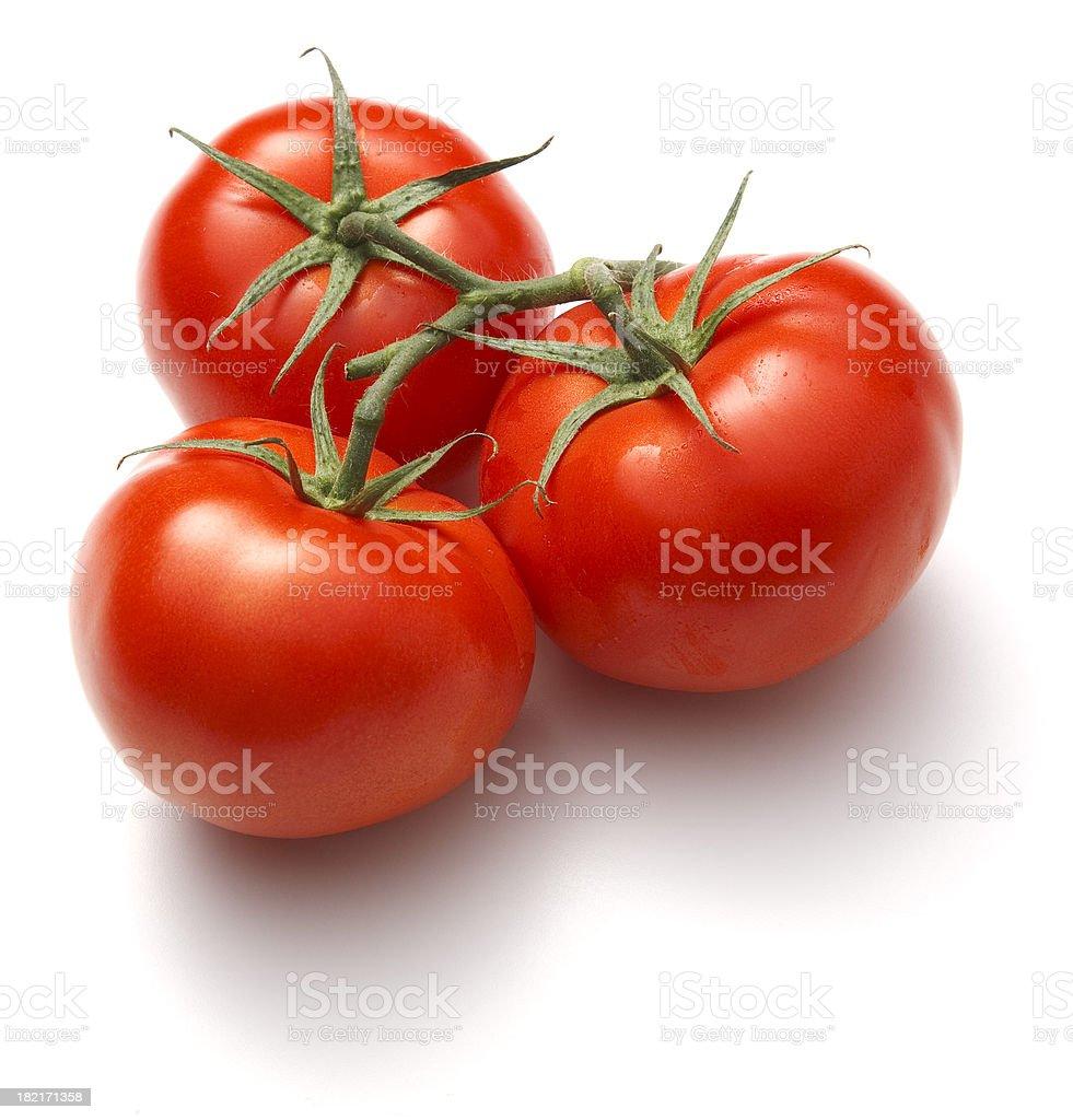 three tomatoes royalty-free stock photo