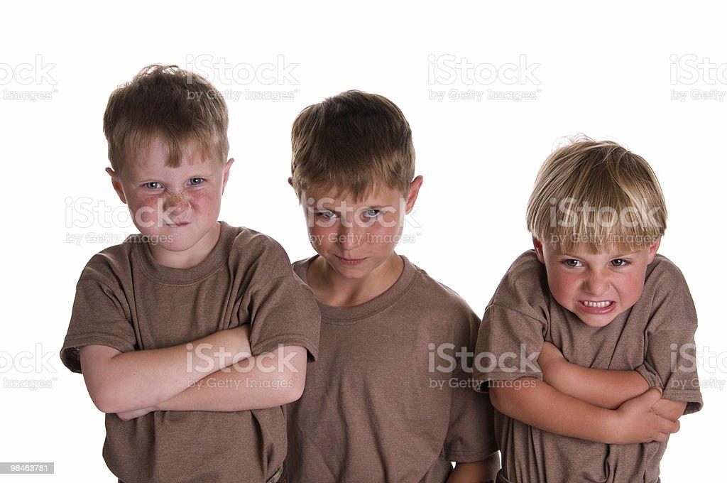 Tre fratelli duro foto stock royalty-free