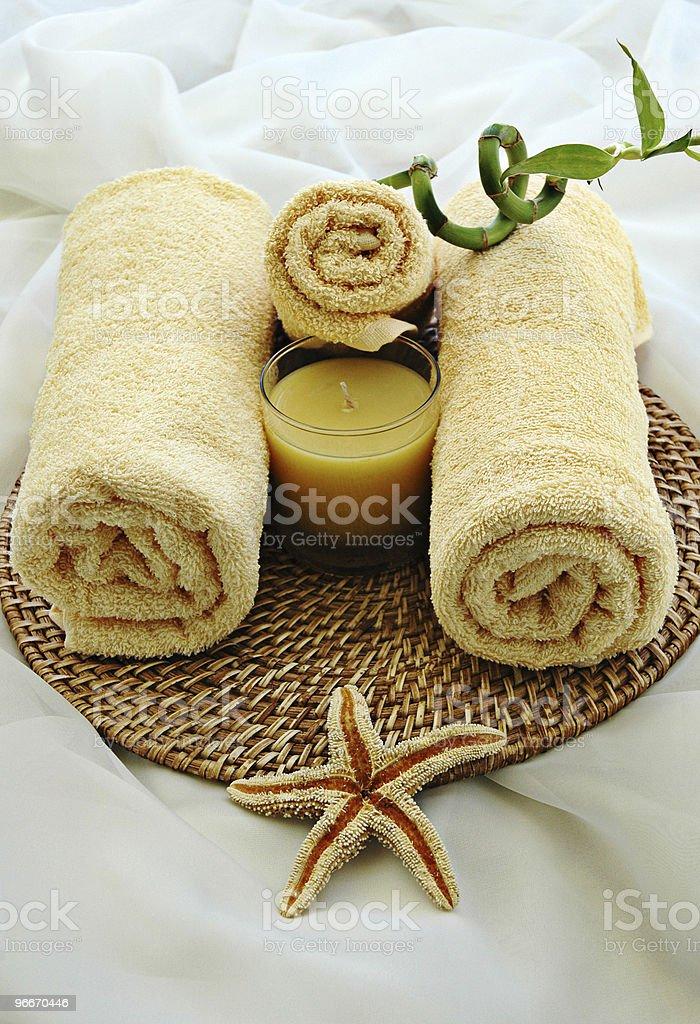 Three Towels royalty-free stock photo