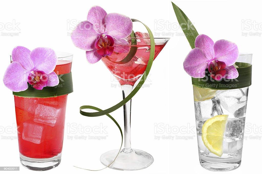 Three Tropical Drinks royalty-free stock photo
