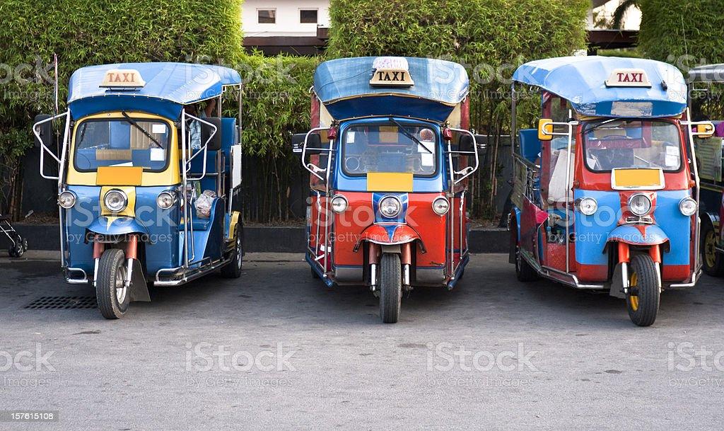 Three Tuk-Tuks (Motorised Rickshaws) In Hua Hin, Thailand royalty-free stock photo