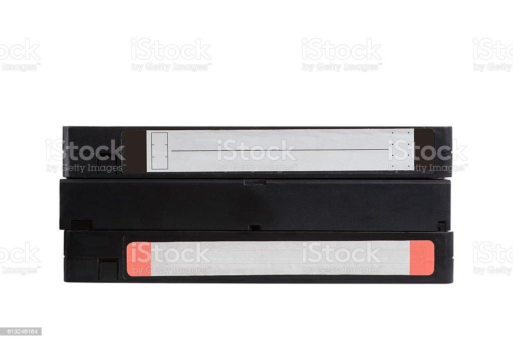 Three VHS tape stock photo