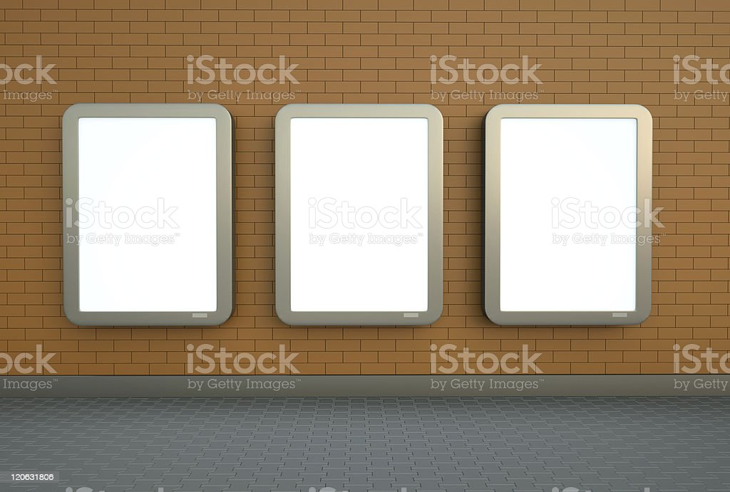 Three wall banners royalty-free stock photo