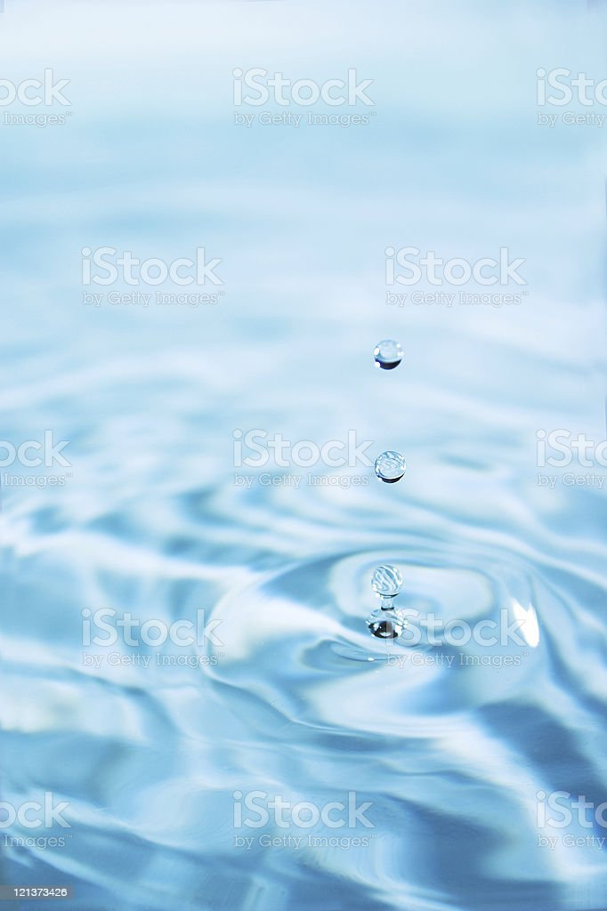 Three water droplets 2 royalty-free stock photo
