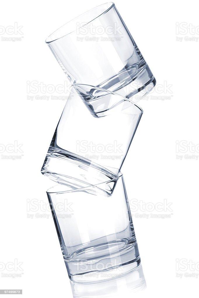 Three whiskey glasses royalty-free stock photo