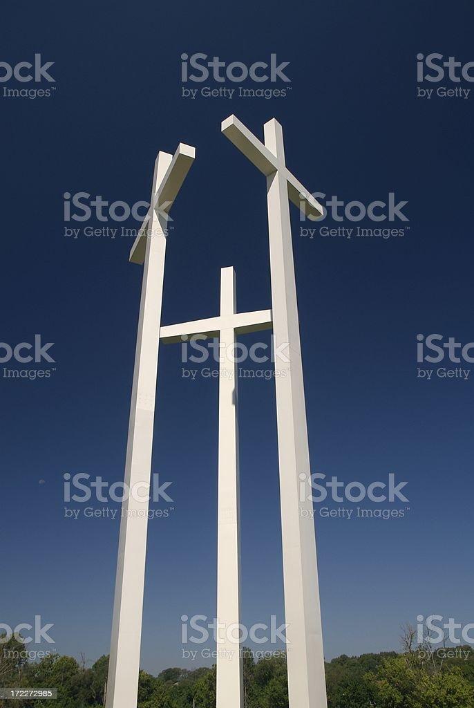 Three White Crosses royalty-free stock photo