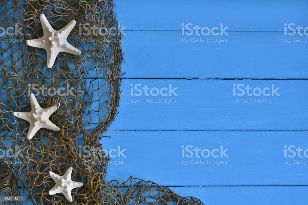 Three White Starfish Background zbiór zdjęć royalty-free
