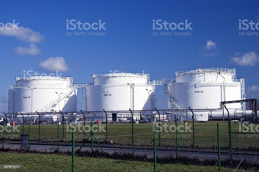 Three white tanks royalty-free stock photo