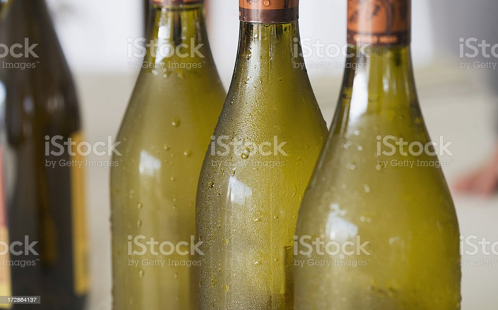 three white wine bottles royalty-free stock photo