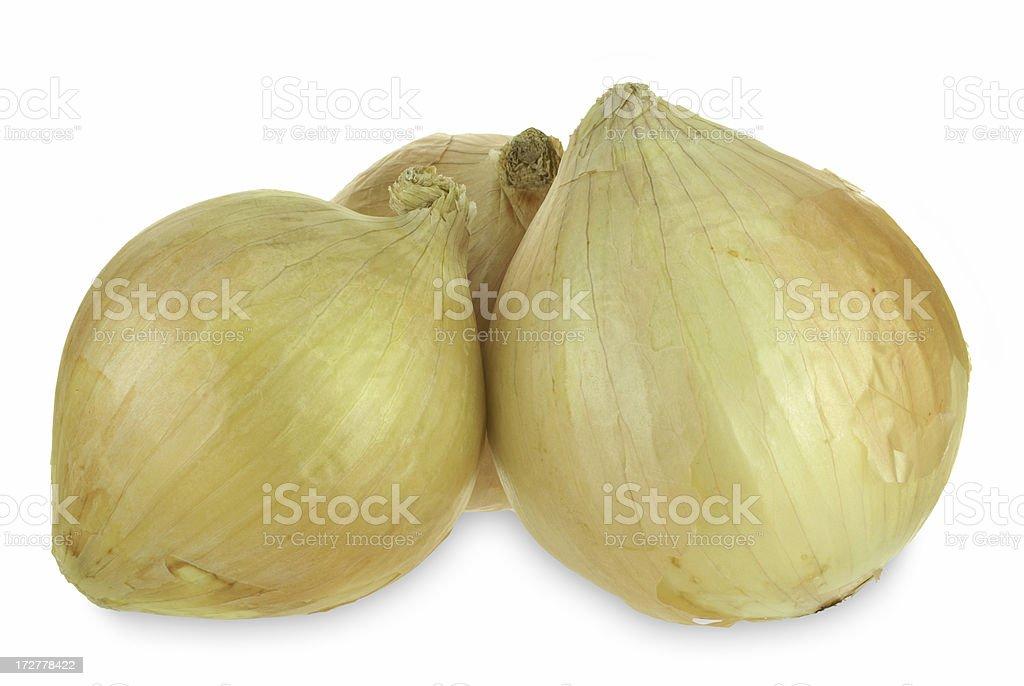 three whole onions royalty-free stock photo