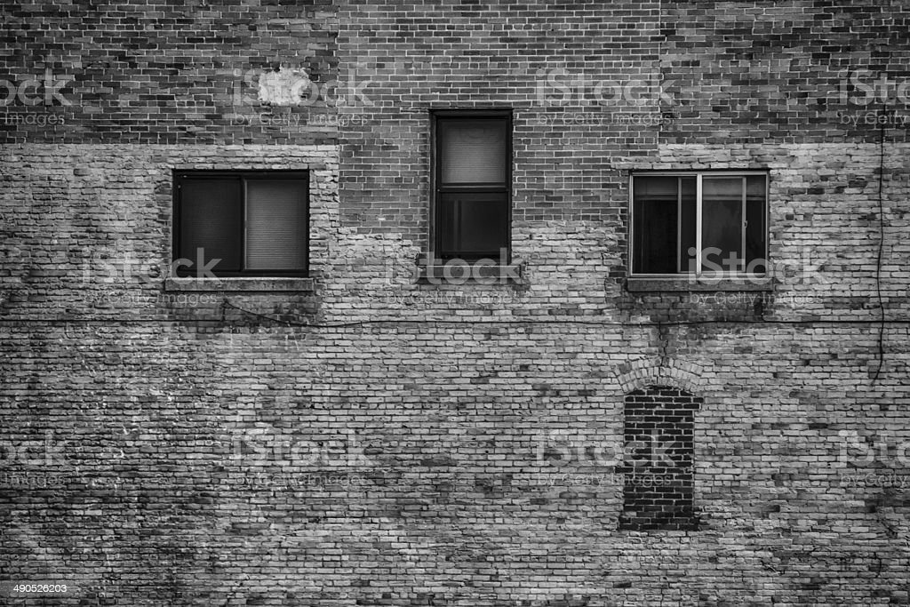 Three Windows BW stock photo