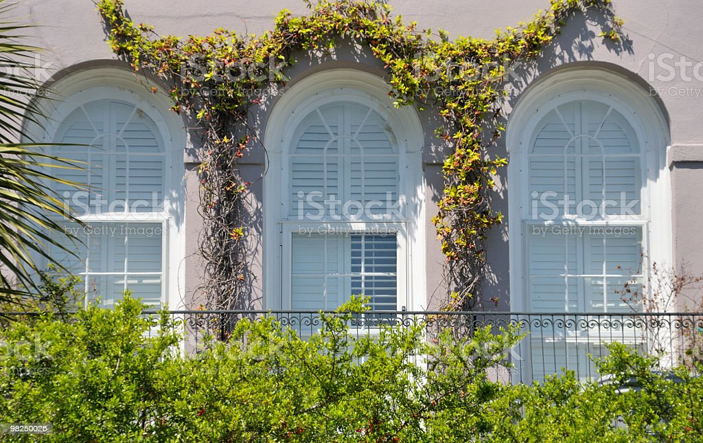Three Windows, Charleston, South Carolina royalty-free stock photo