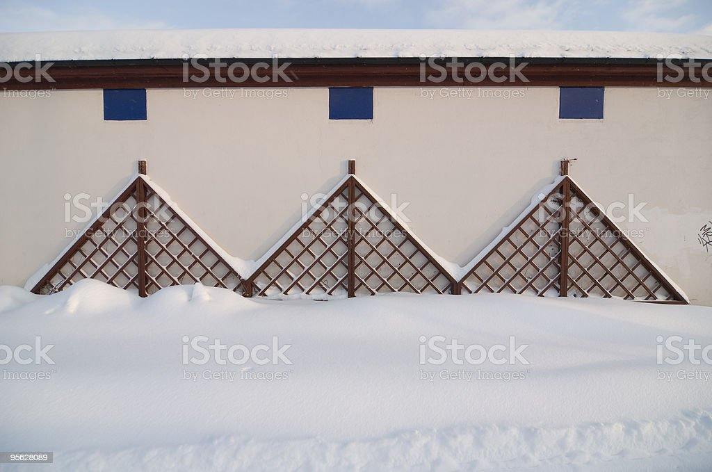 Three Windows stock photo